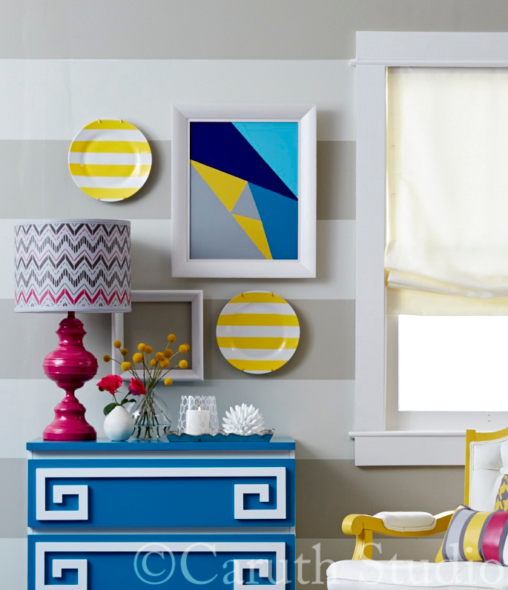 Geometric painted projects
