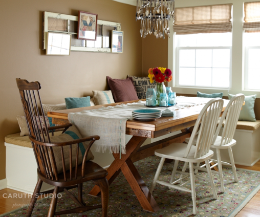 Dining room makeover overall