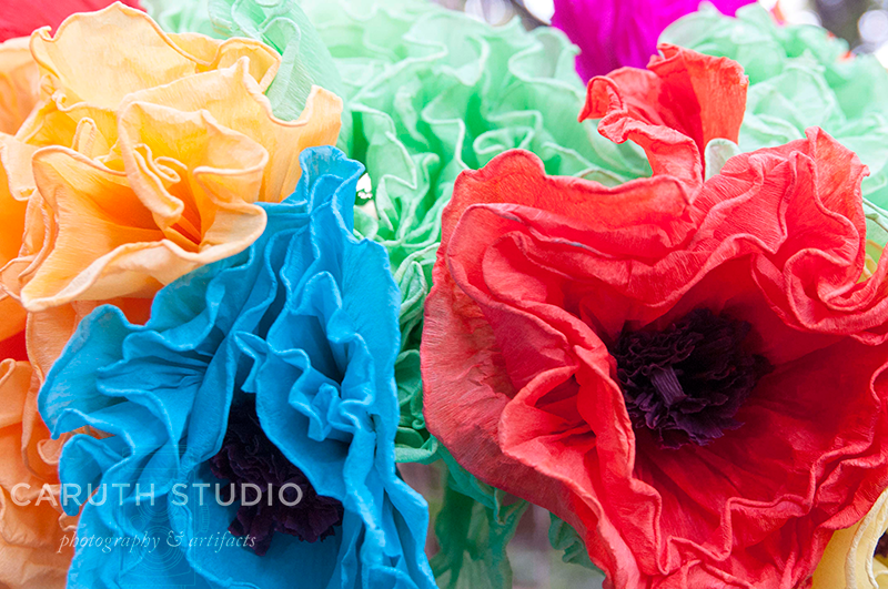 Fiesta party paper flower bouquet