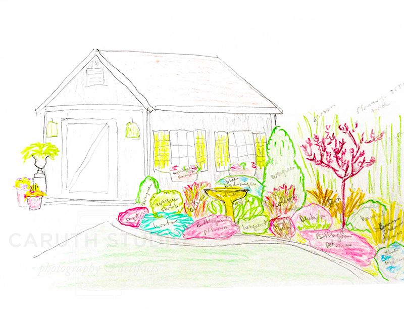 Color drawing of the shed plan