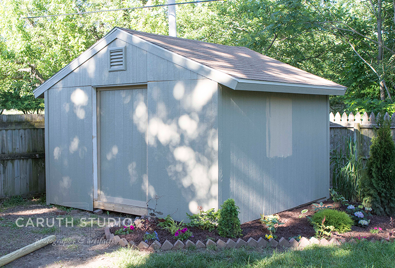 Shed with roof