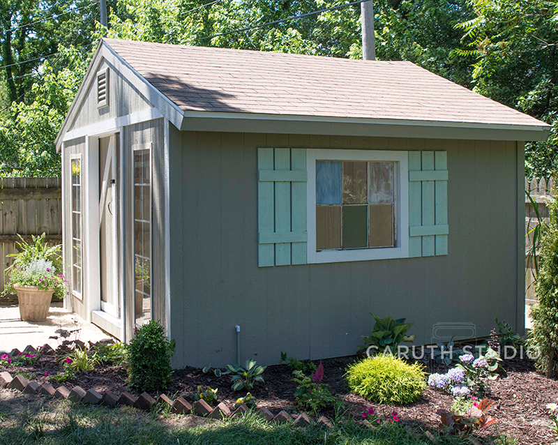 Shed with shutters