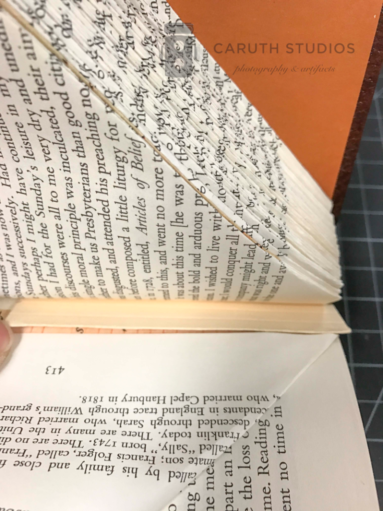 Book with folded pages