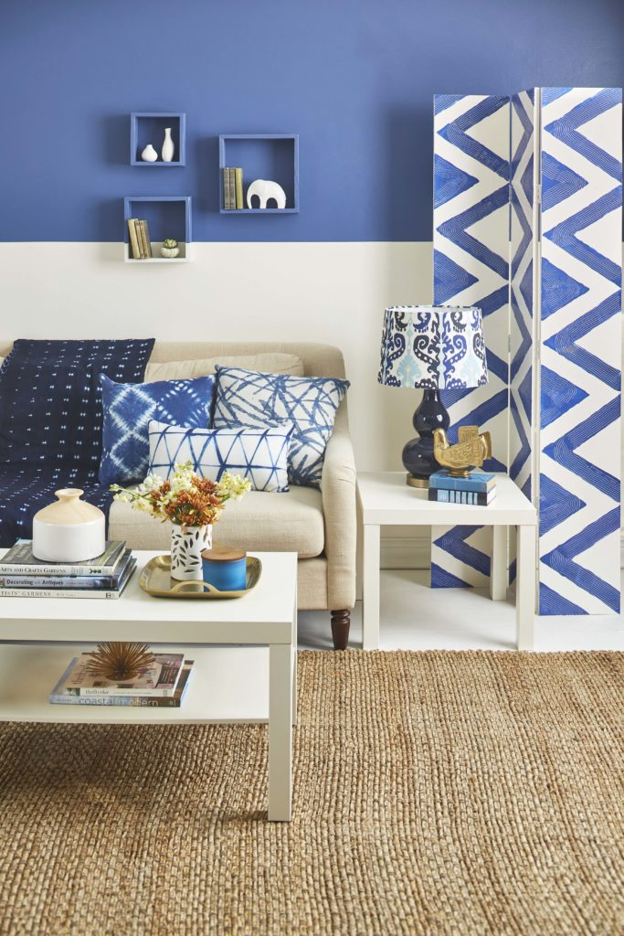 Indigo living room reality