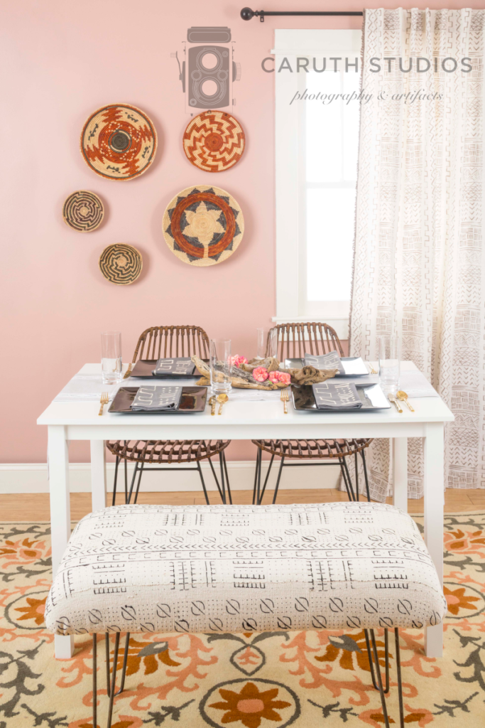 Mudcloth dining room overall