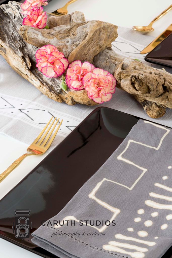 Mudcloth dining table