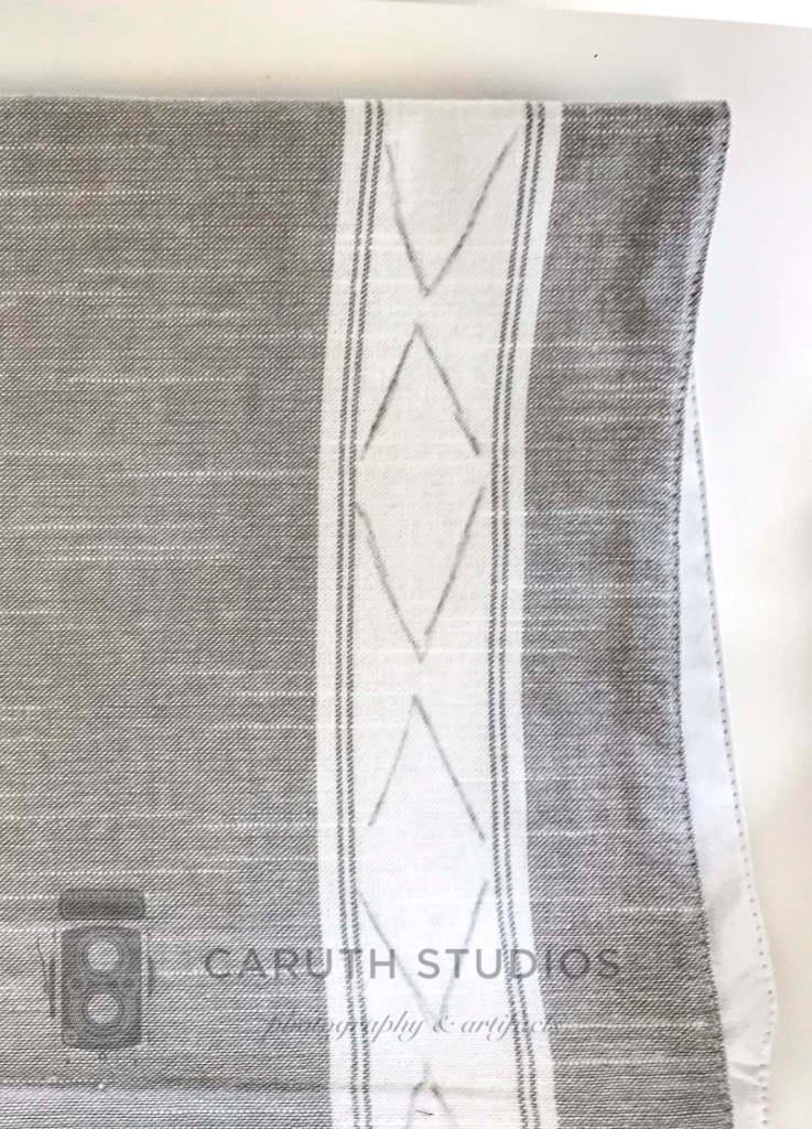 Mudcloth motifs on table runner