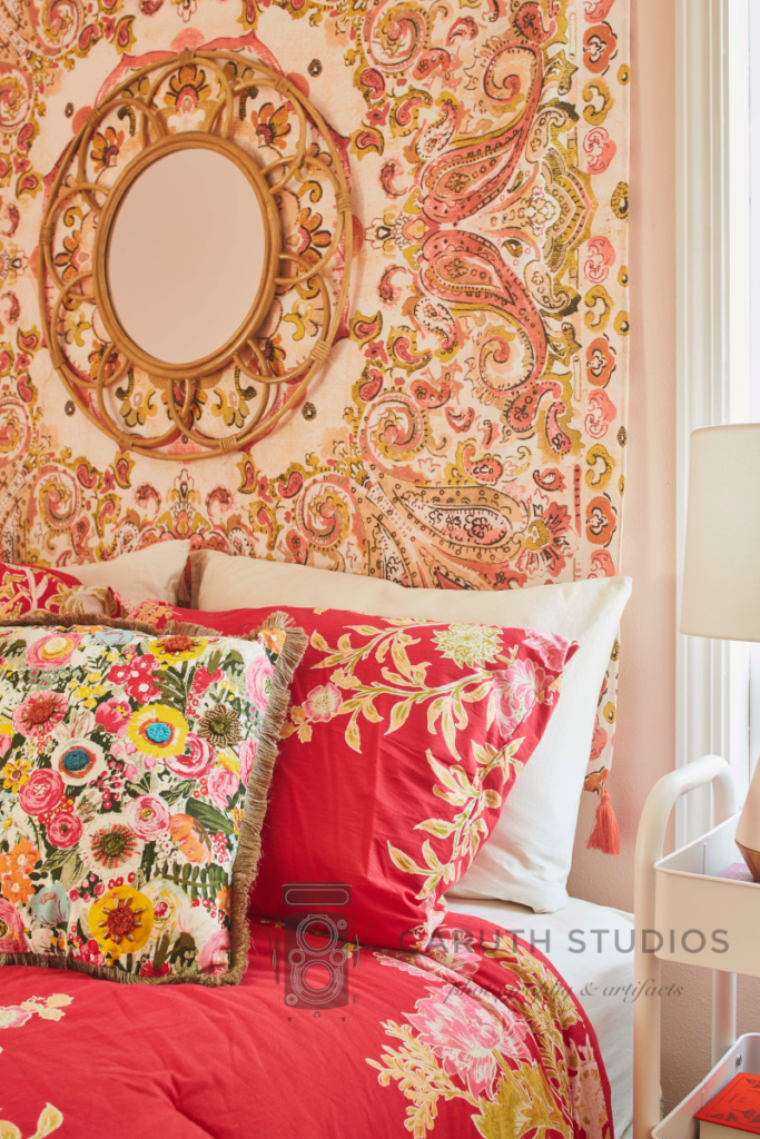 Tapestry and pillows