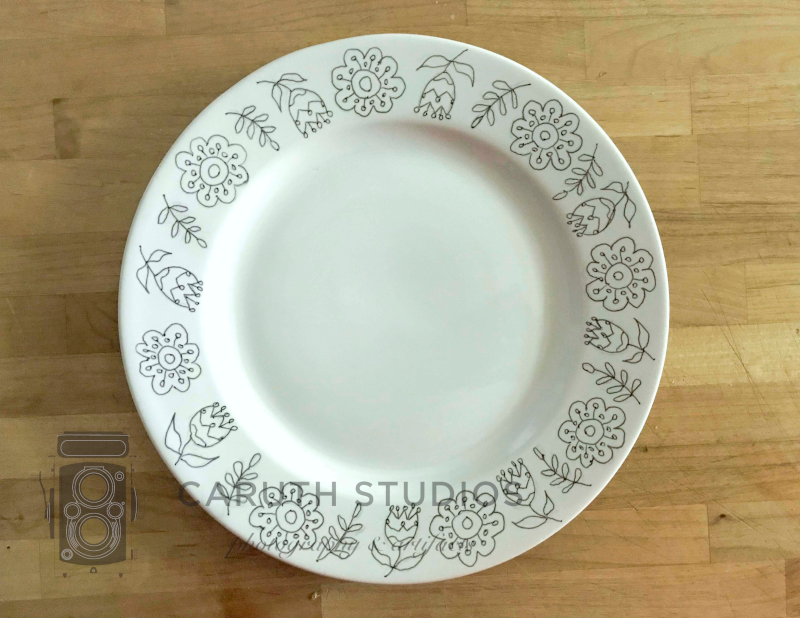 Designs on plate