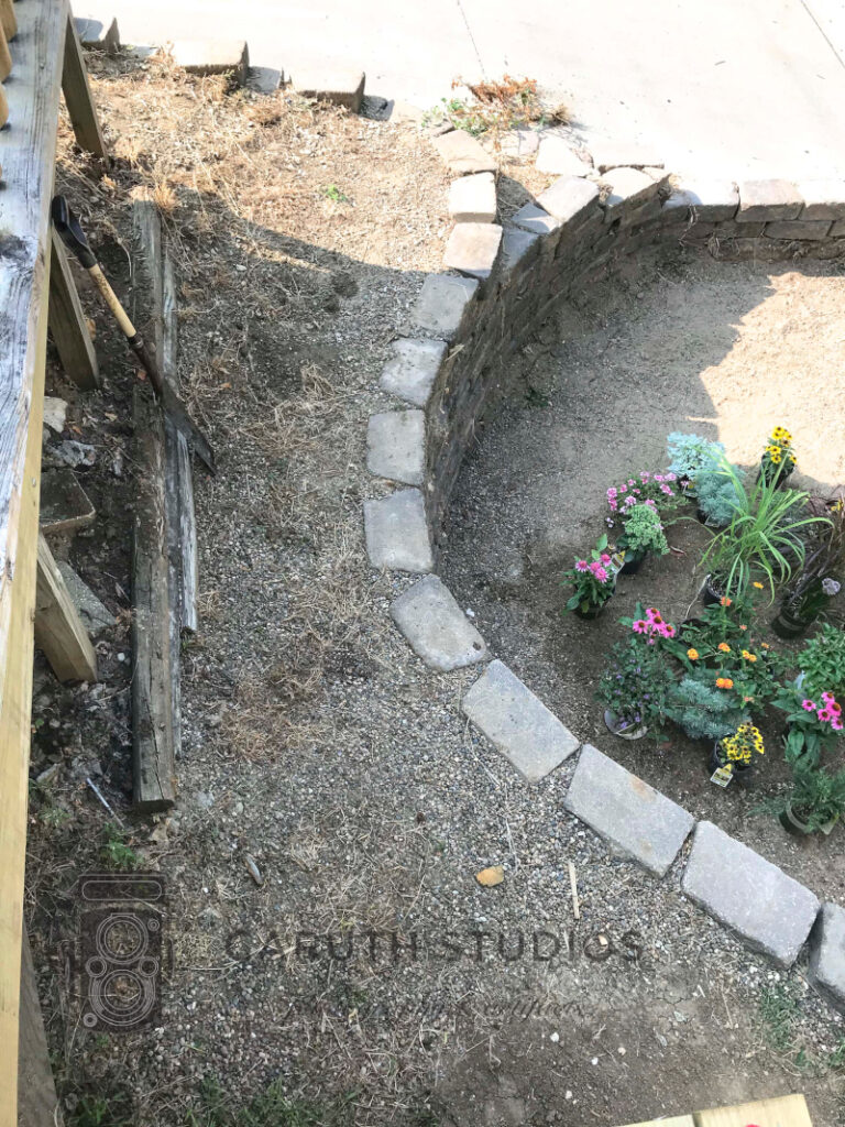 retaining wall from above